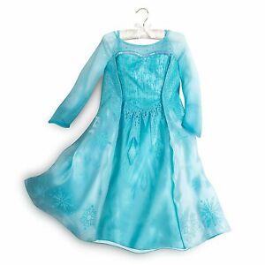 Disney Store Authentic Frozen Elsa Costume Dress Toddler Size 3 New