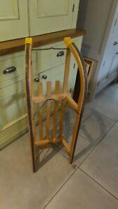 Vintage Austrian Wooden Sledge - Gloco Original Davoser Rodel