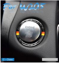 Mercedes Benz Start Stop Ignition Key Surround Trim Carbon Fibre E Class C Class