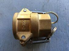 "D-100B D Type brass cam & groove lever coupling 1""BSP female thread"