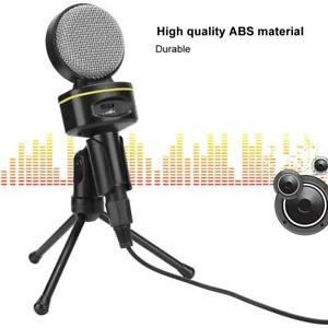 Pro Condenser Microphone for Game Chat Studio Recording Computer +Tripod Stand