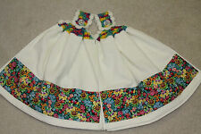 Double Hand Crochet Hanging Kitchen Premium Towels - Mary Engelbreit Flowers