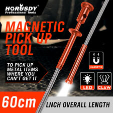 Flexible Claw Pickup Tool Magnetic LED Light 25 in Grab Grabber Fingers Spring