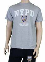 Nypd Nypd Gray Tee Mens Police T-Shirt White Logo New York Nypd
