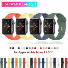 Para Apple Watch Serie 5 4 3 2 1 Silicona Banda Correa Iwatch Deportivo 38/42/40/44mm