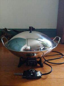 """Vintage Farberware 14"""" Stainless Steel Electric Wok Model 303 EUC"""