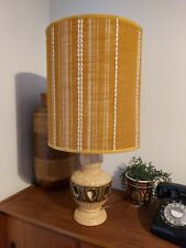 Vintage Retro 1960s Mid Century West German Table Lamp - Twin Bulb Ochre Shade.