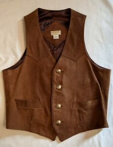 Brown Leather Billy Martin Vest