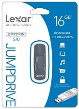 Lexar JumpDrive S70 16GB USB 2.0 Flash Stick Pen Memory Drive - Grey