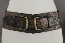 Unbranded Faux Leather Animal Print Wide Belts for Women