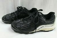 CLASSIC SPORT BOYS YOUTH CLEATS SHOE SIZE 3.5 BLACK FAUX LEATHER UPPER