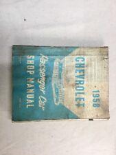 1958 Models Chevrolet Passenger Car Repair Shop Manual Book Original