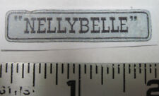 """Ideal Roy Rogers """"NELLEBELLE """" Jeep water slide decal"""