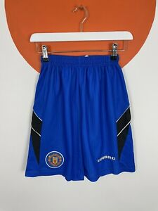 Men's Vintage Umbro Manchester United Football Away Shorts UK Size S Small