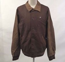 Obey Men's Faux Leather Jacket Varsity Coffee Bean/Tan Size XXL NWT Brown