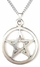 Open Pentangle Pendant Handcrafted in Solid Pewter In The UK + Free GiftBox PN38