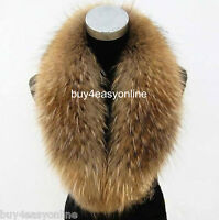 "90cm/36""inch Luxury Men Real Raccoon Fur Collar Scarf/Shawl/Wrap Neck Warmer"