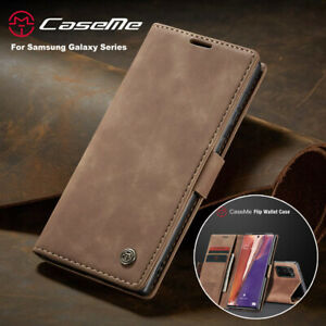 For Samsung S20 Ultra Note 20 S10+ S9 S8 Magnetic Flip Leather Wallet Case Cover