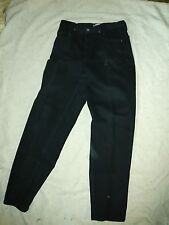 "N YJeans Woman Size 10 Slouch Black Jeans  Pant 100% Cotton 32"" inseam"