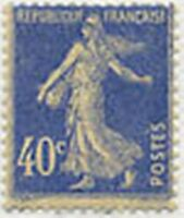 """FRANCE STAMP TIMBRE N° 237 """" SEMEUSE FOND PLEIN, 40 C OUTREMER """" NEUF x TB"""