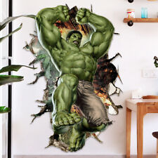 3D Cartoon Super Hero Avengers Hulk Wall Sticker Kids Room Decor Vinyl Decal