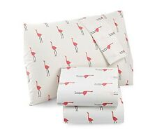 Martha Stewart WHIM Collection 100% Cotton Sheet Set Pink Flamingos (Twin)
