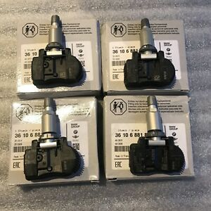 4 X BMW TPMS Original Genuine Set Of Four (4) Tyre Pressure Sensors 36106881890
