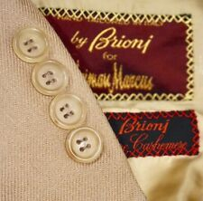 46R Brioni 100% CASHMERE Vicuna Light Brown Twill Sport Coat Blazer Jacket