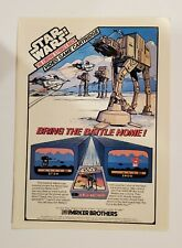 Vintage Retro 1982 Star Wars Empire Strikes Back home video game print ad
