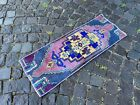 Turkish small rug, Handmade wool rug, Vintage rug, Doormat | 1,2 x 3,2 ft