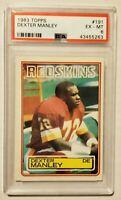 1983 Topps Football Card Washington Redskins Rookie DEXTER MANLEY PSA 6 EX-MT
