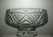 TUTBURY CUT GLASS LEAD CRYSTAL FOOTED FRUIT SALAD BOWL