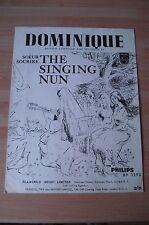 THE SINGING NUN - DOMINIQUE ORIGINAL 1963 LP SHEET MUSIC
