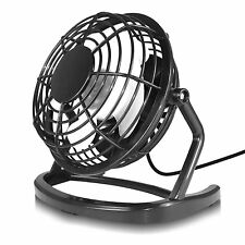 Black USB Retro Silent Office Desk Fan - PC, Laptop, Computer Macbook