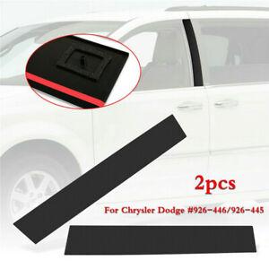 Black For Dodge Grand Caravan Pair Front B Pillar Post Moulding Cover Trim Caps
