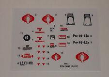 GI Joe Cobra Flight Pod Sticker Decal Sheet