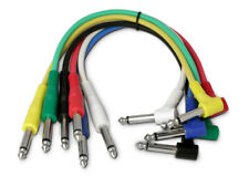 6 Mono Straight / Angled Jack Patch cables Guitar effects FX Pedal Leads Studio