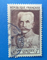 FRANCE 1953 FAMOUS FRENCHMEN LYAUTEY USED STAMP SG 1177