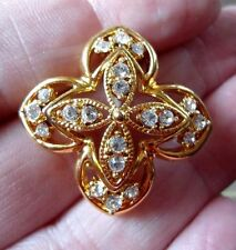Unbranded Crystal Gold Plated Vintage Costume Jewellery