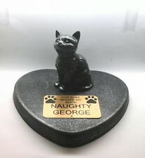 Cat Large Pet Memorial/headstone/stone/grave marker/memorial with plaque 27