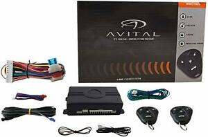 AVITAL 3100LX Keyless Entry Car Alarm Security System 3 Channel +2 Remotes
