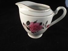 PINK ROSES Creamer  Made in China Manufacturer Unknown with Gold Gilding
