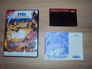 Disney Aladdin SEGA Master System COMPLET TBE