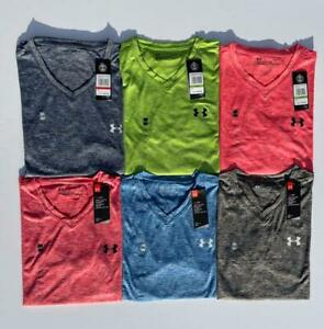 NEW UNDER ARMOUR SPACE DYE T SHIRT Mens Athletic workout training shirt SOFT!