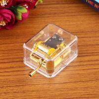 Acrylic Gurdy Gold Movement Hand Crank Music Box Lover Birthday Gift