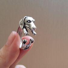Dachshund Dog Rings - Silver - Adjustable (R12)
