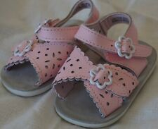 Honors Baby Girls Pink Eyelet Hook and Loop Fasten Sandals Shoes Sz. 1 Pre-Owned