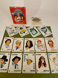 Vintage 1981 - The Dukes of Hazzard - Card Game - COMPLETE