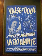 Partition Valse à Dola Yvette Horner La Roulante
