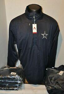 Antigua Dallas Cowboys Men's Navy 1/2 zip Jacket  New with Tags Sizes XL-XXL